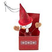 Muñeco nieve en caja Noel 7cm
