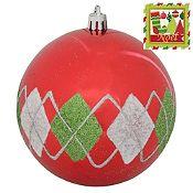 Esfera pintada Noel 10cm