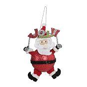 Santa joy glitter noel 14cm