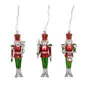 Set 3 soldados pintados Noel 14 cm