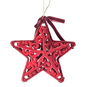 Adorno estrella barroca Holy Night 10.5cm
