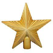 Tope de árbol estrella oro 21cm