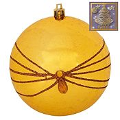 Bola glitter Gold 10cm