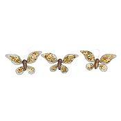 Set 3 mariposas con gancho oro 12 cm
