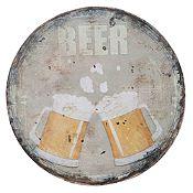 Cuadro redondo Beer 30cm