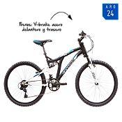 Bicicleta negra/blanca BD2445NGB