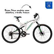 Bicicleta blanca/negra BD2645 Aro 26