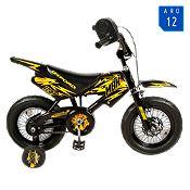 Bicicleta Motobike negra/amarilla