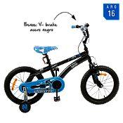(Regular S/369) Bicicleta celeste/negra BM1665 Aro 16¨