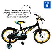 Bicicleta negra BM1679NGR Aro 16¨