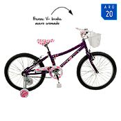 Bicicleta Little Pony morada