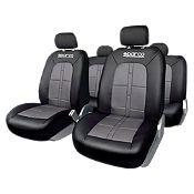Funda para asientos negro y gris