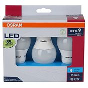Pack 3 focos Led 8.5w luz blanca