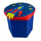 Caja banco organizador Cohete 27x27cm