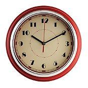 Reloj Chrome rojo 30cm