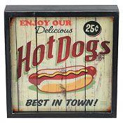 (Antes S/20.9) Cuadro con luz Hot Dog 30x30cm