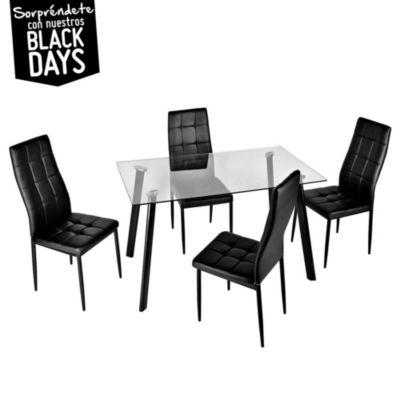 Juego de comedor 4 sillas for Sillas de oficina sodimac