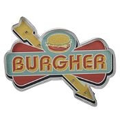Cartel de metal Led Burger 46x23cm