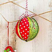 Esfera textil Noel 8cm