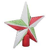 Tope de árbol estrella Noel 21cm