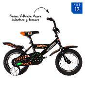 Bicicleta Wascar 1V. negro y naranja Aro 12¨