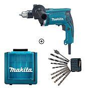 Combo Taladro Atornillador/Percutor HP1630 710 W + Set 40 Accesorios + Maleta Plástica