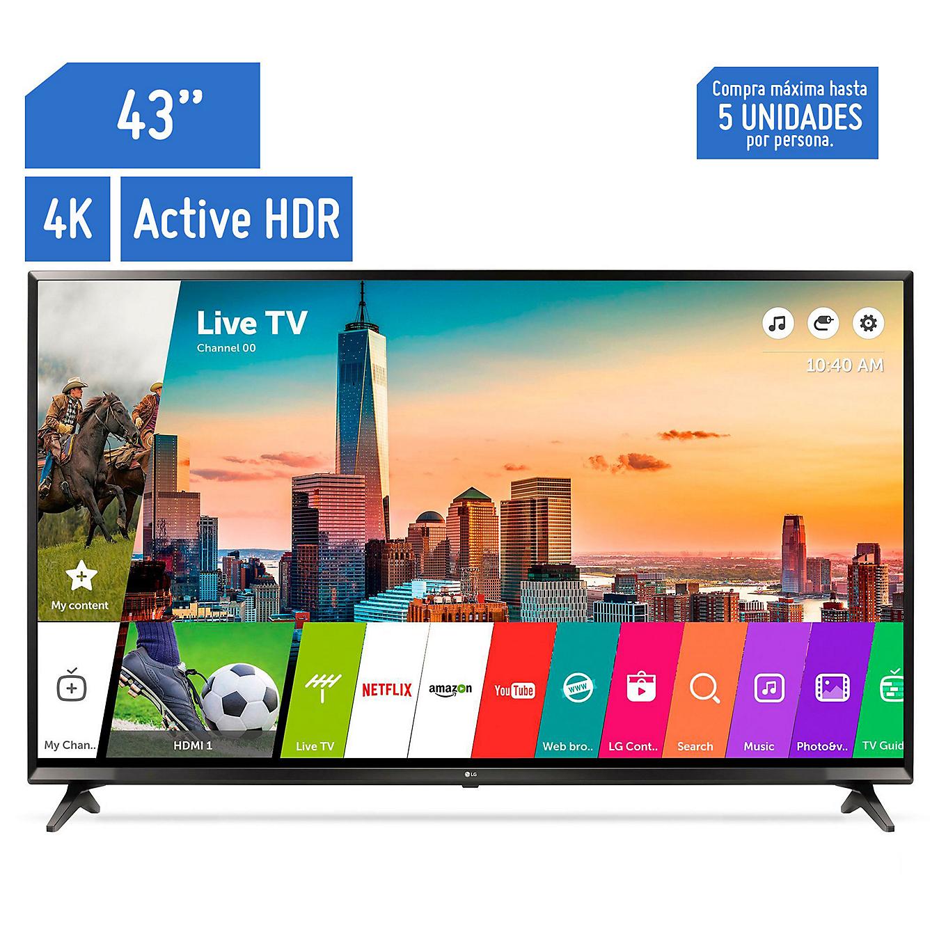 Televisor Smart IPS 4K Ultra HD 4K 43\'\' 43UJ6300 - Sodimac.com.pe
