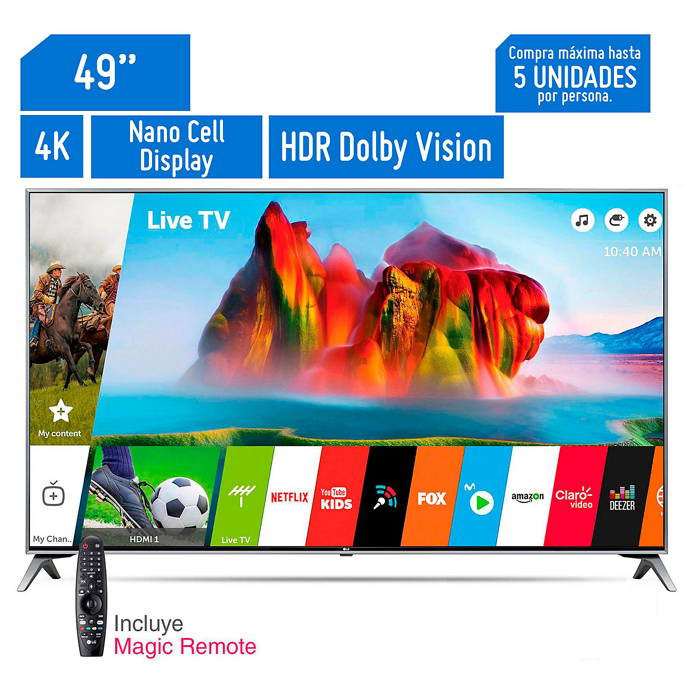 Televisor Smart Super Ultra HD 4K 49\'\' 49UJ7500 LG -&nbspSodimac.com.pe