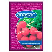 Hortaliza Rabanito Crimson Giant