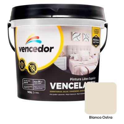 L tex vencelatex blanco ostra mate 1gl - Pintura color marfil ...