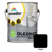Esmalte sintético Oleomate negro 1 gl