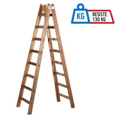 Escalera tijera 8 pasos madera for Escaleras dielectricas precios