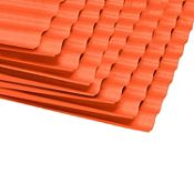 Techo de Polipropileno Flexiforte Rojo 1.2 mm 1.10 x 3.05 m