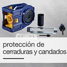 Protección de cerraduras y candados