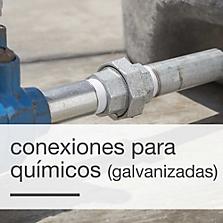 Conexiones de bronce y galvanizadas