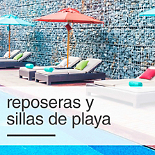 Reposeras y sillas de playa