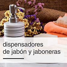 Dispensadores de jabón y jaboneras