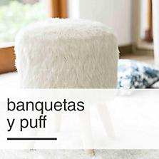 Banquetas y Puff