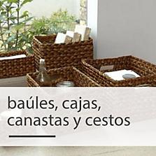 Baúles, cajas, canastas y cestos