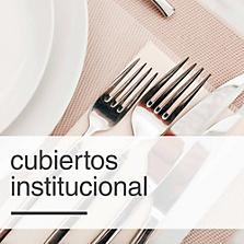Cubiertos institucional