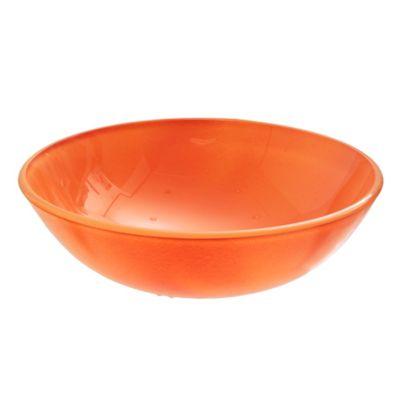 Bacha de vidrio naranja 43 x 15 cm