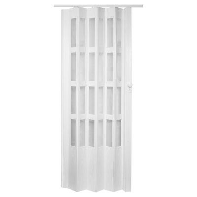 Puerta plegadiza Lugano Blanca 90 x 200 cm Derecha/Izquierda