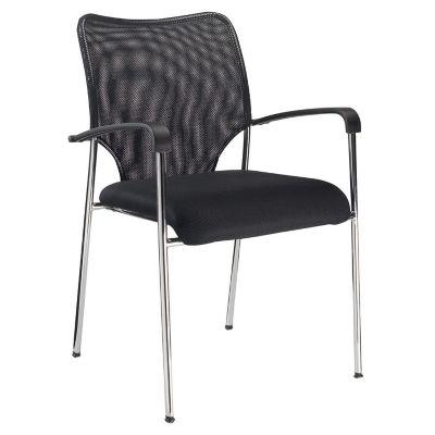 Silla fija negra for Sillas ergonomicas sodimac