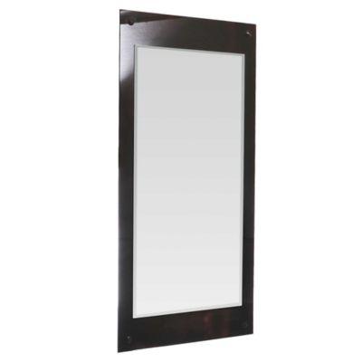Espejo rectangular con marco de vidrio 50 x 100 cm