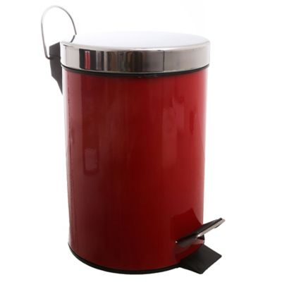 Papelero metálico Rojo 3 lt