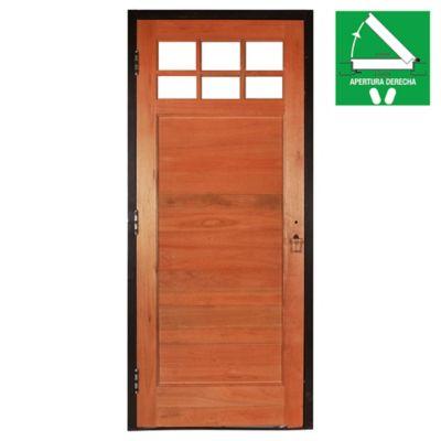Puerta Madera 80 x 200  x 10 cm Derecha