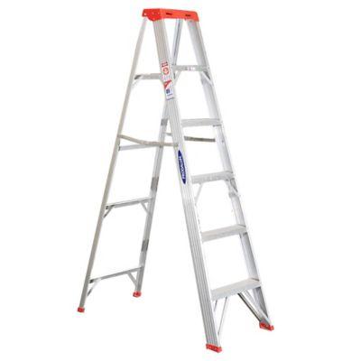 Escalera tijera aluminio 6 escalones
