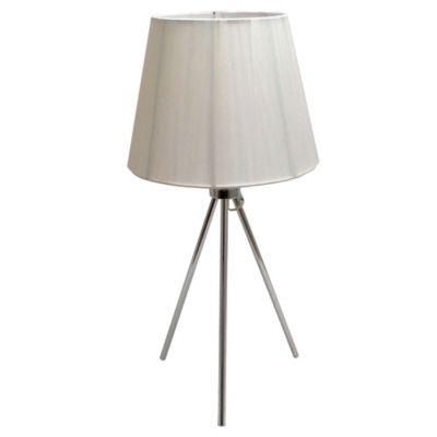 Lámpara de Mesa Tela y Metal 1 Luz