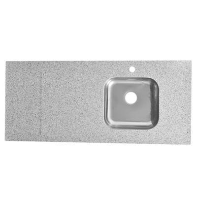 Mesada con zócalo gris 120 x 53 cm