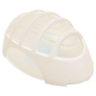 Tortuga plástica ovalada con Reja blanca 1 luz E27